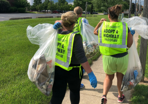 Spiros Law volunteers for Adopt A Highway